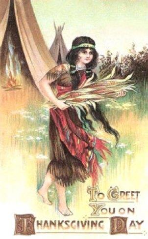Vintage Native American Postcard