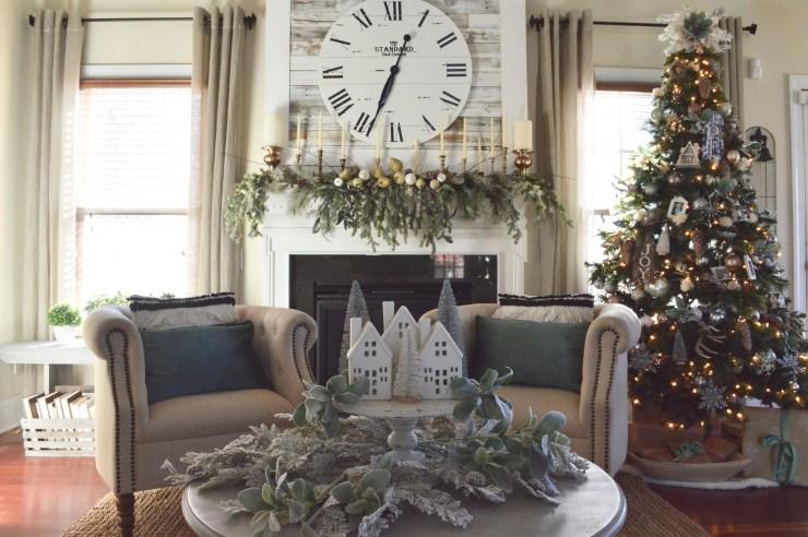 Cottage Christmas decorating ideas Christmas mantel ideas