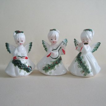 Set of three vintage Lefton Angels Lefton Christmas collectibles