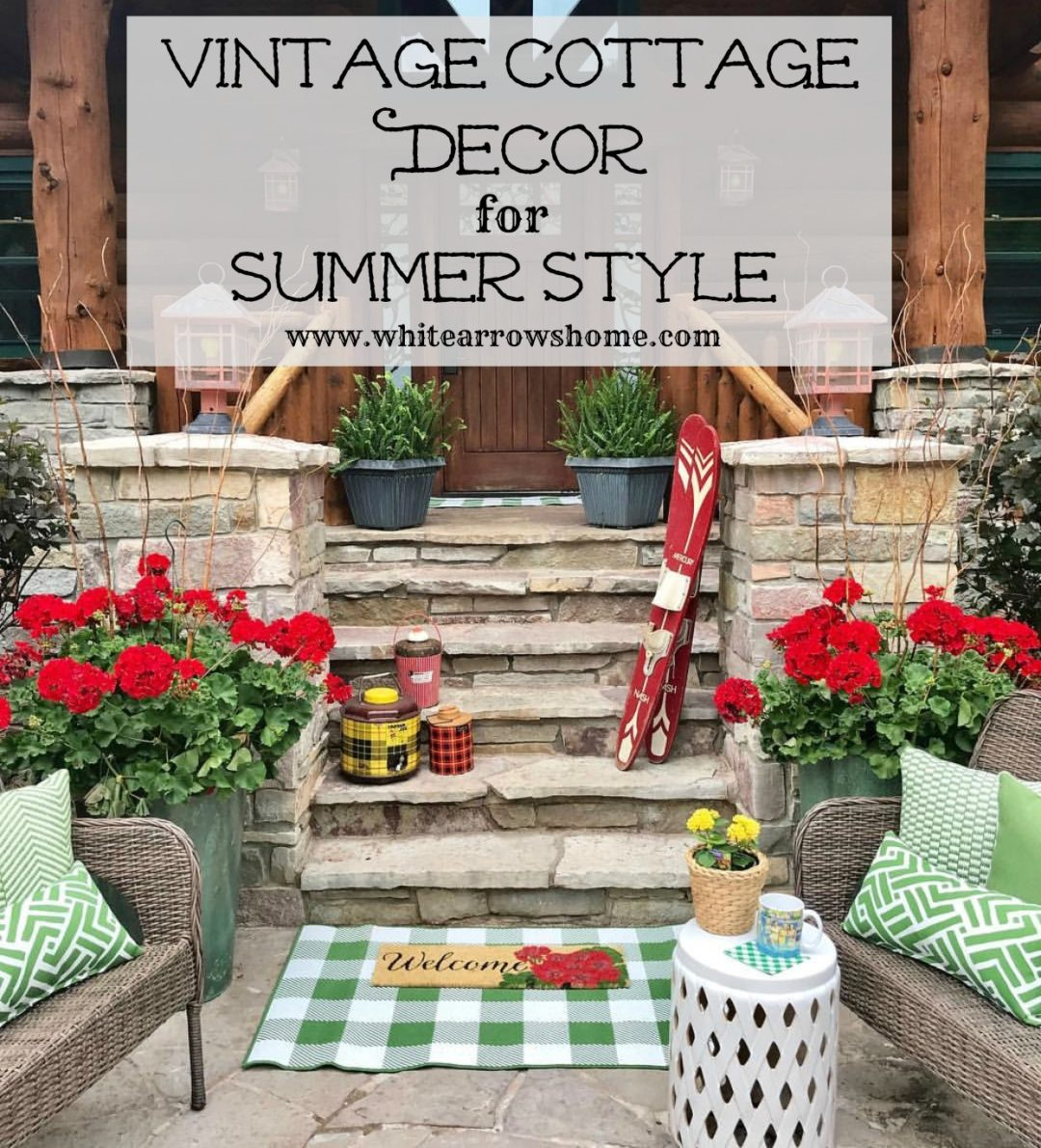 Follow The Yellow Brick Home  Vintage Cottage Decor For