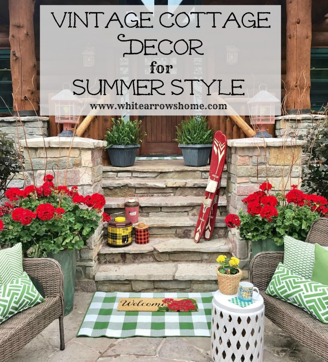 Vintage Cottage Decor Summer Style