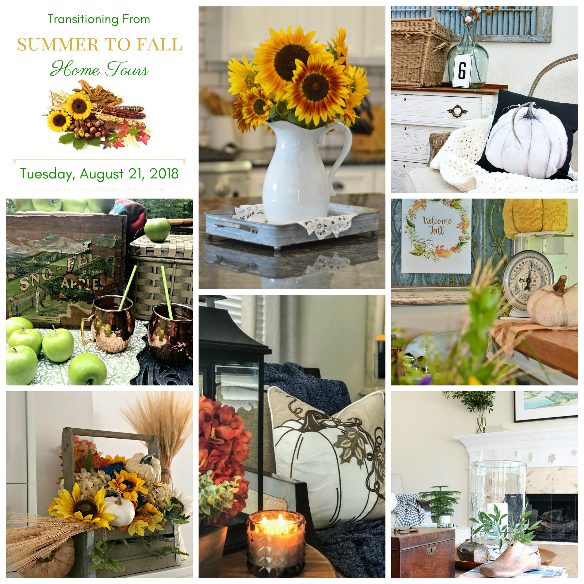 Welcome To The Transitioning From Summer To Fall Home Tours Hosted By Amber  At Follow The Yellow Brick Home!