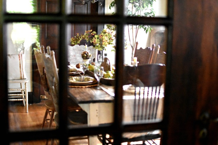 historic fall home tour fall decorating ideas vintage cottage style fall decor historic home tour french doors fall dining room
