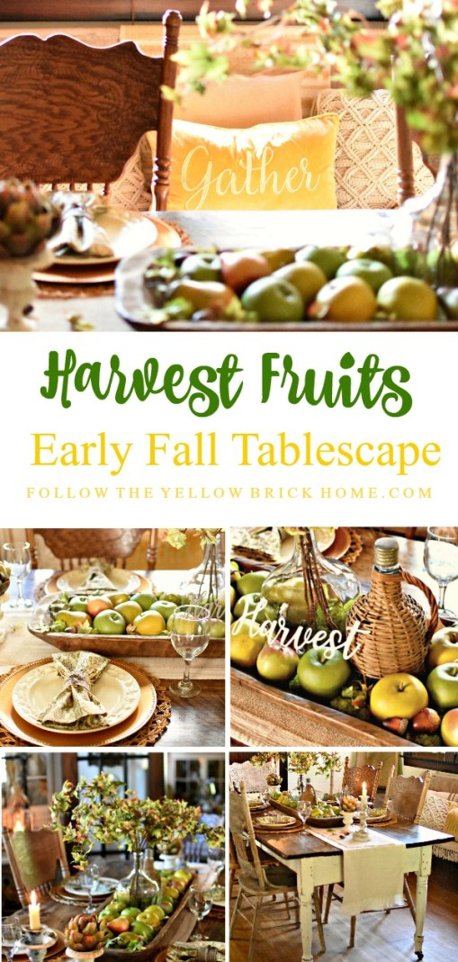 apples and pears French Country Fall Tablescape