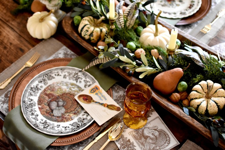 Vintage Thanksgiving Tablescape