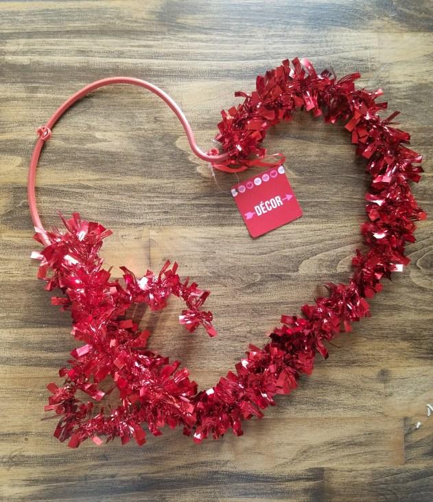 Farmhouse Heart Rag Wreath Dollar Tree Hack