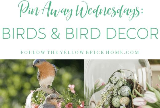 Decorating with birds, bird houses, bird cages, and bird decor