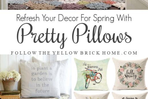 Easy spring decorating ideas spring pillows