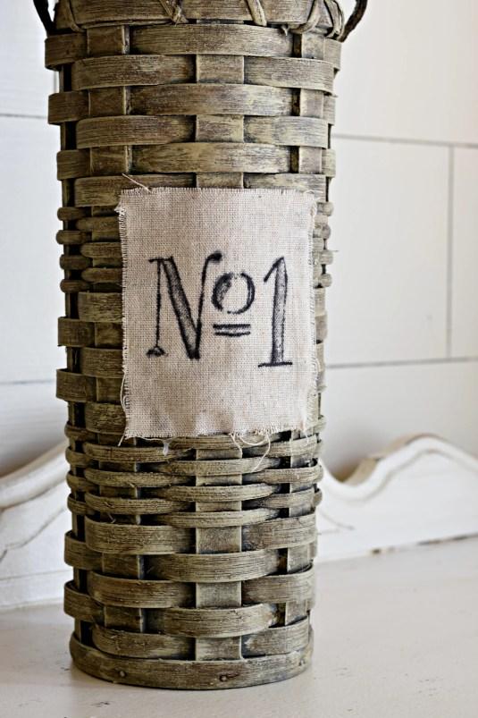 DIY Graywashed Basket Makeover Farmhouse Basket French Basket Chalk Paint DIY