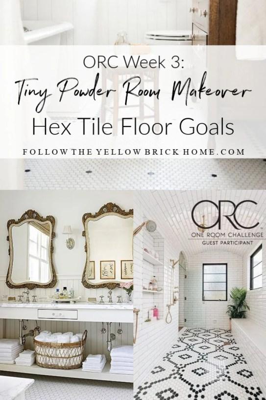 vintage hex tile floors hex tile bathroom floors