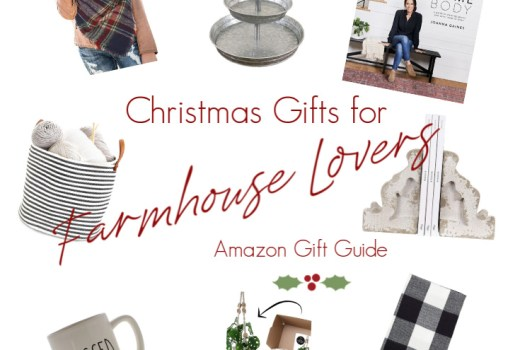 Christmas Gifts for Farmhouse Lovers amazon gift guide farmhouse gift guide