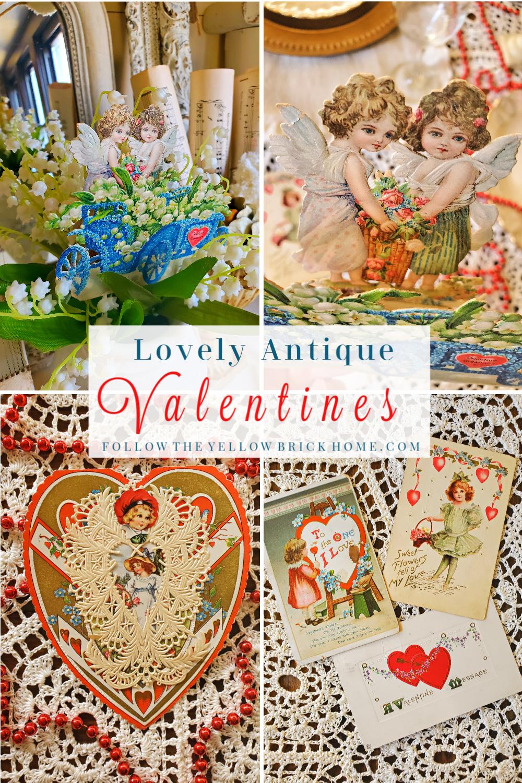 Lovely Antique Valentines Valentine's Day Decorating Ideas