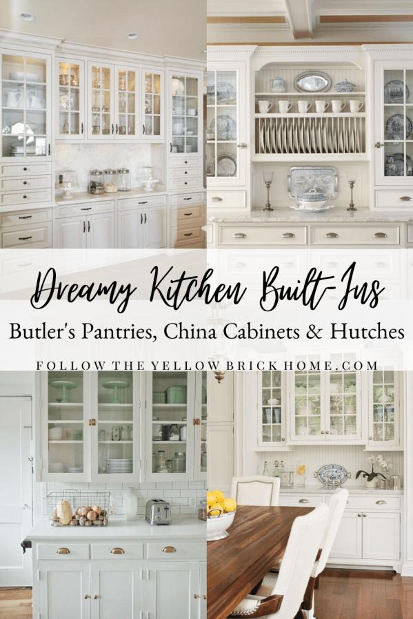 Kitchen built-in cabinets, butler pantry, kitchen hutch ideas Built in kitchen hutch