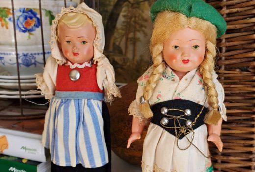 1950's German Dancing Dolls vintage wind-up dancing dolls West Germany Celluloid Dancing doll