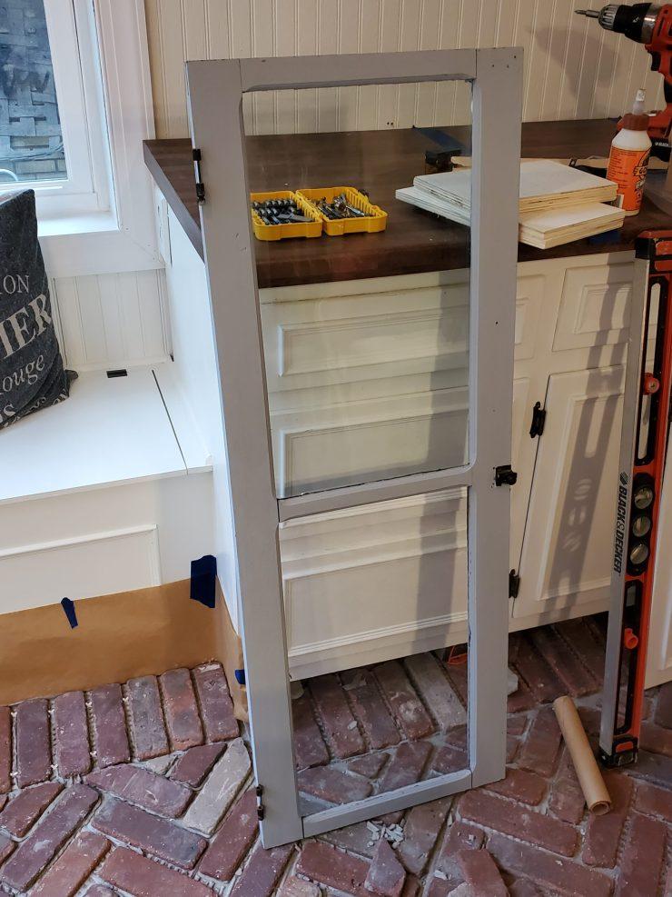 vintage glass pantry door