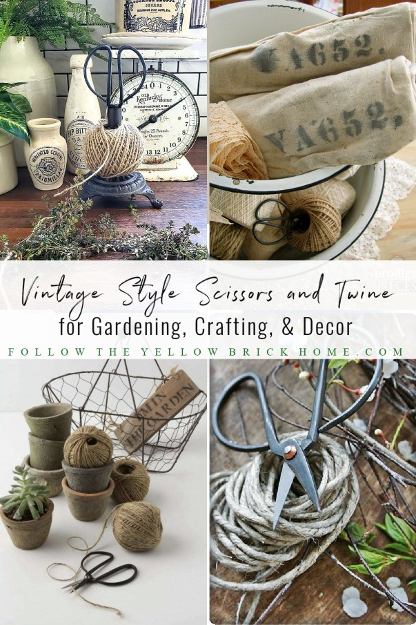 shears and twine vintage scissors and twine garden twine herb shears