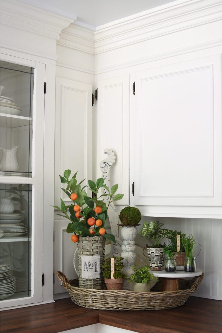 Cheerful Summer Kitchen with citrus and herbs orange and green summer kitchen tour french basket