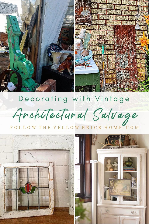 Decorating with Vintage Architectural Salvage vintage corbels vintage windows