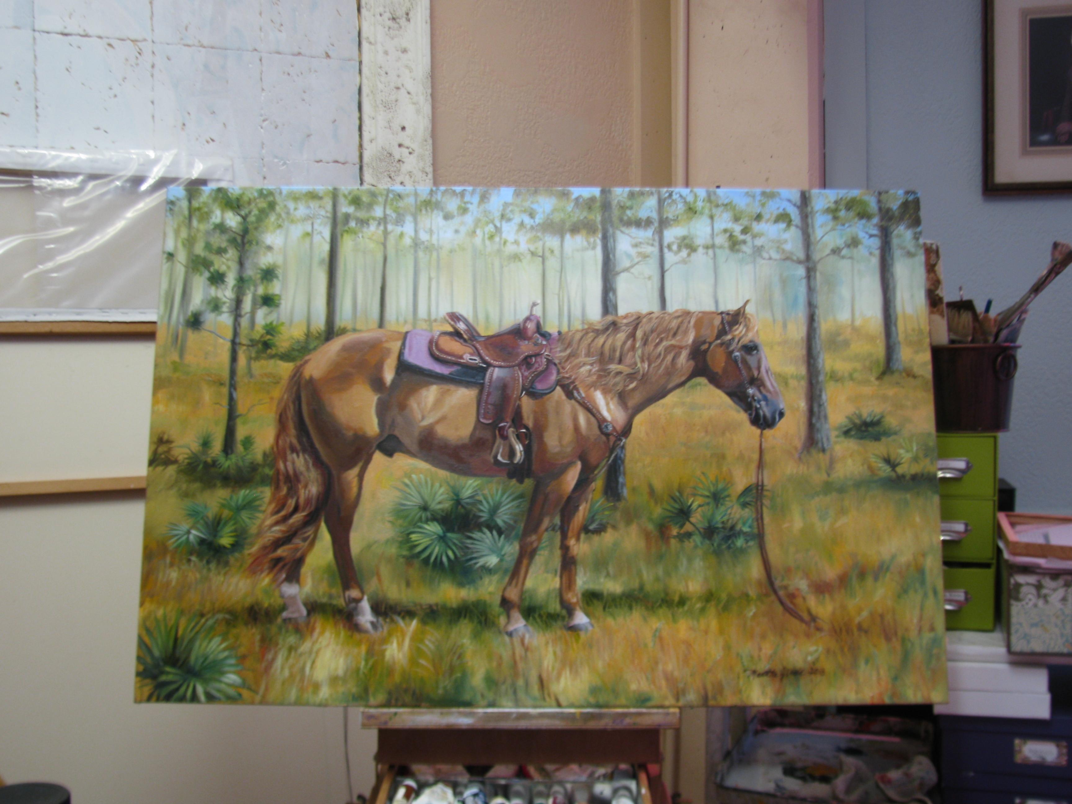 """""""Cowboy Up"""" – Art Print of a Florida Quarter Horse"""