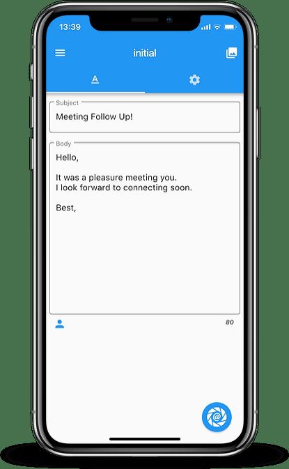 Folocard Offline Free Business Card Scanner Email Template Follow Up iPhone iOS iPhoneX