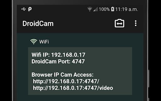 DroidCam WiFi