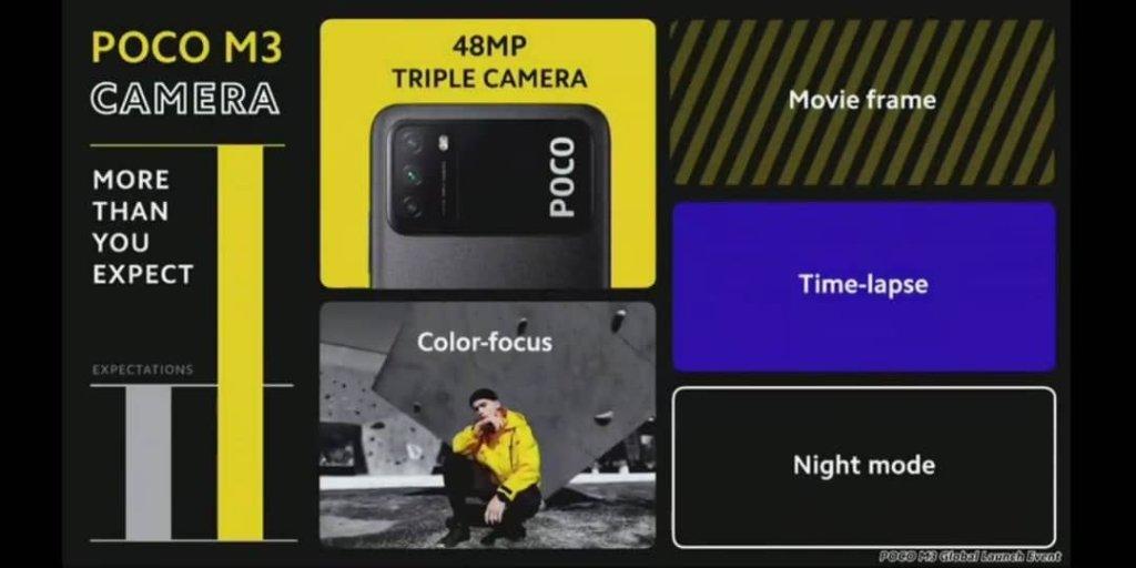 cámara Poco M3