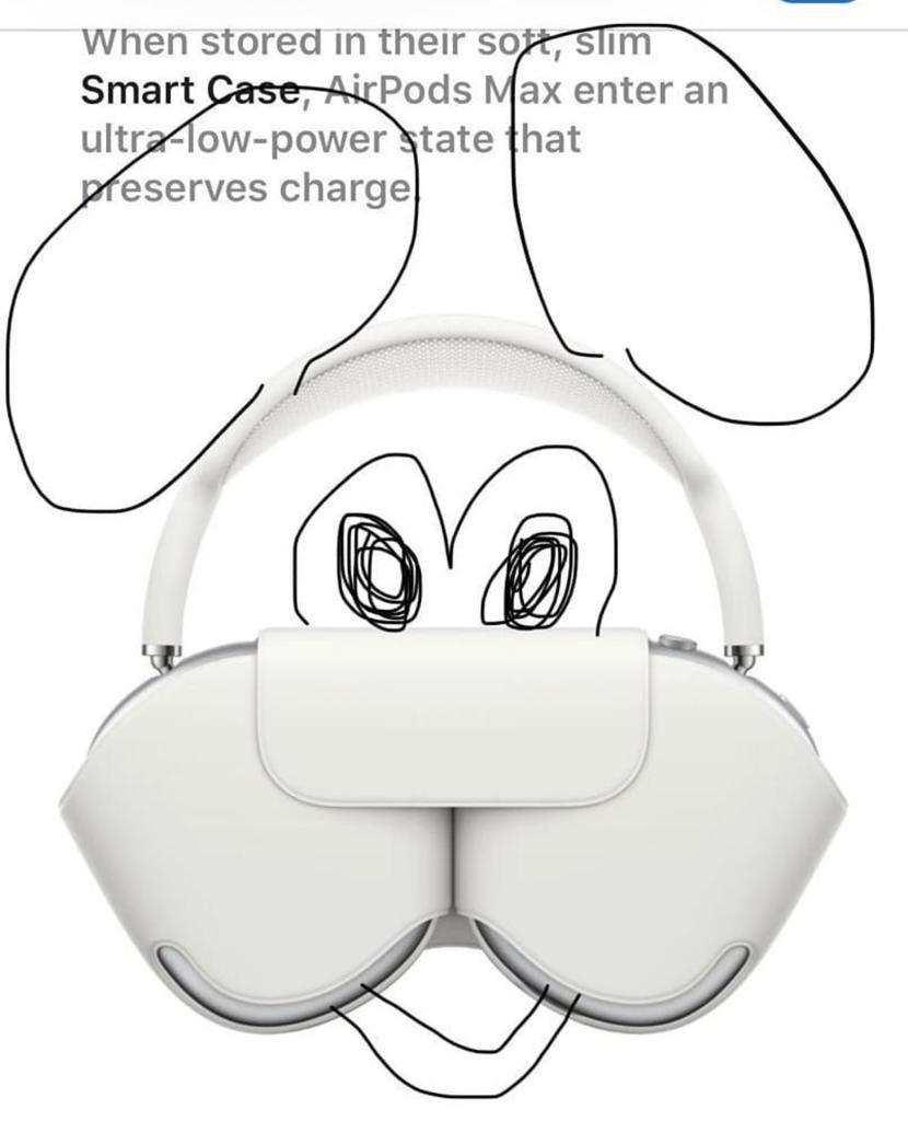 Cara de Mickey en los AirPods Max