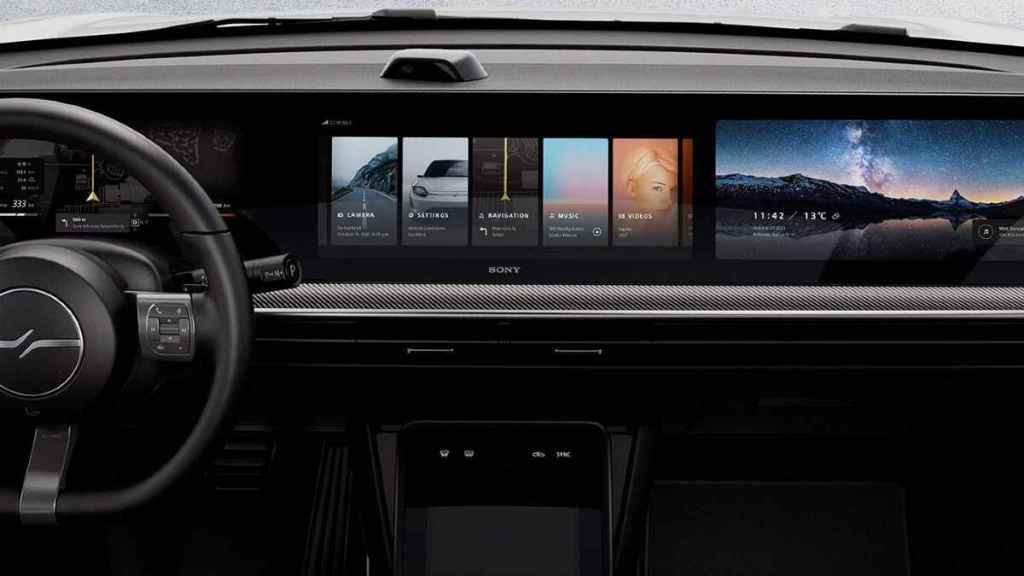 sony vehículo pantalla panoramica