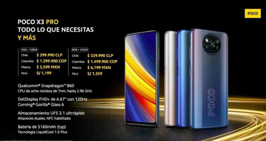 Poco X3 Pro precios
