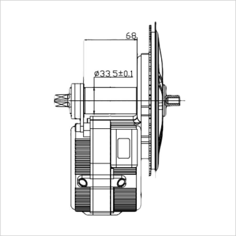 Ombouwset Middenmotor Bafang BBS afmetingen 01