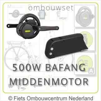Ombouwset met 500W Bafang Middenmotor Bafang BBS02 Frameaccu 01