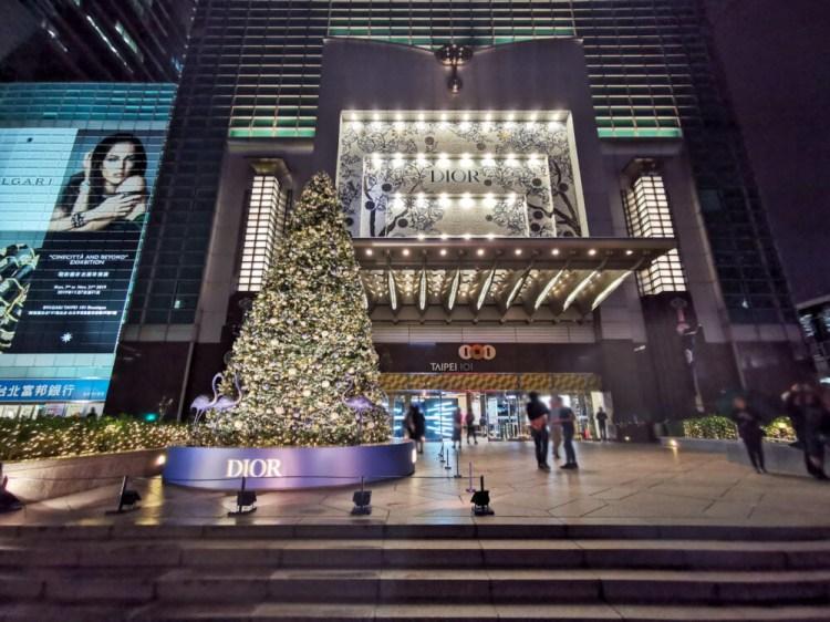 台北信義「101購物中心 DIOR 超美精品聖誕樹」2019聖誕節必拍!