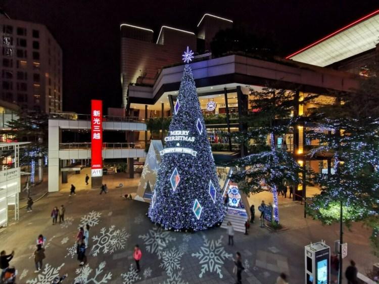 台北信義景點「2019新光三越信義新天地」17米高萬花筒耶誕樹