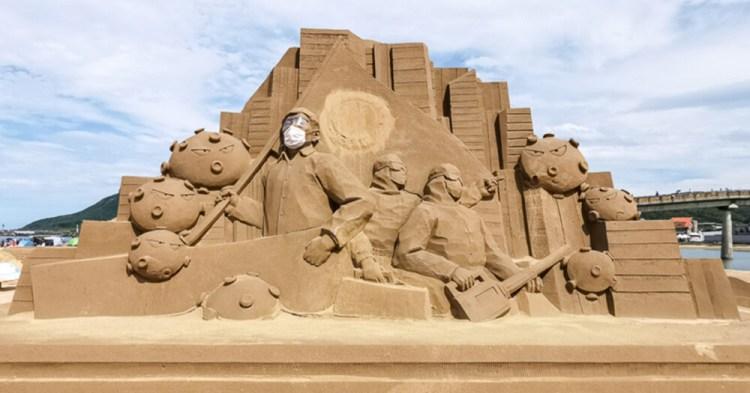 新北景點「2020福隆沙雕藝術季」阿中部長、巨人、埃及金字塔主題沙雕超吸睛