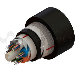 Loose Tube Dielectric Armored Double Jacket Cable