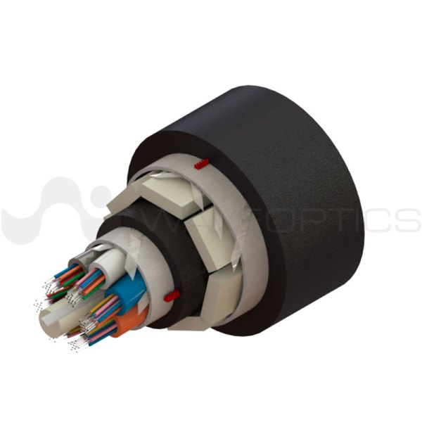 Rendered image of Loose Tube Flat FRP-Armored Double Jacket Slim Cable