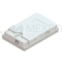Empty Closed 2-port wall outlet terminal box