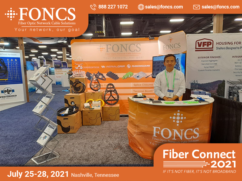 FONCS Fiber Connect booth 2021