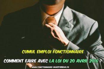 cumul emploi fonction publique