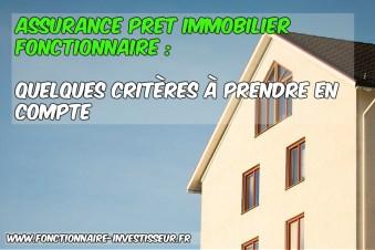 assurance crédit immobilier fonctionnaires
