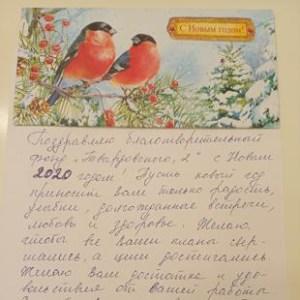 Письмо-благодарность Гладышева Наталья