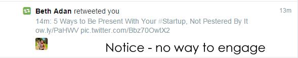 The standard Twitter.com retweet example
