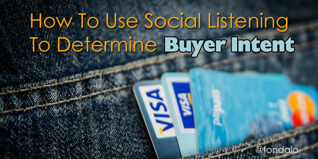 How To Use Social Listening to determine Buyer Intent