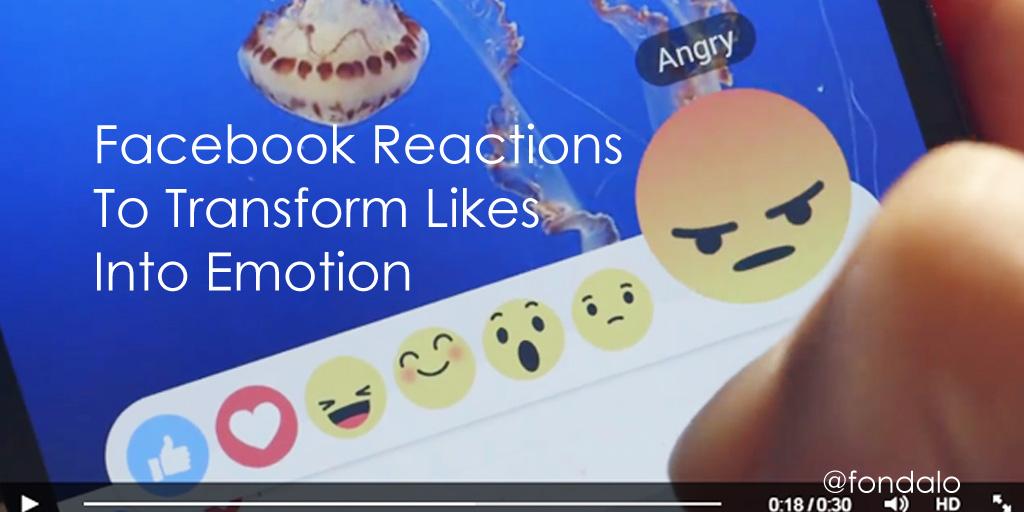Facebook Reactions To Transform Likes Into Empathy