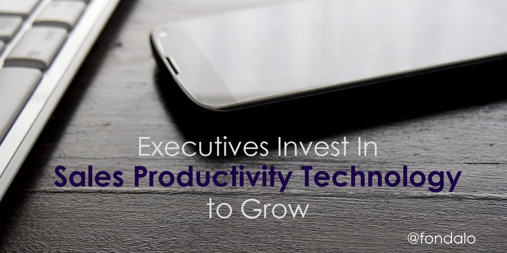 Executives Invest In Sales Productivity Technology To Grow