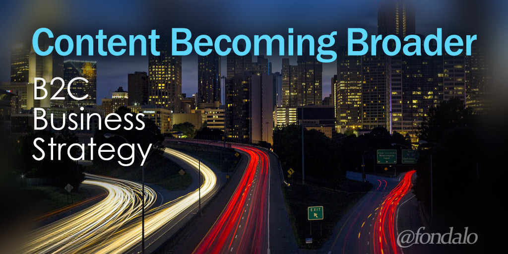 Content Becoming Broader B2C Business Strategy