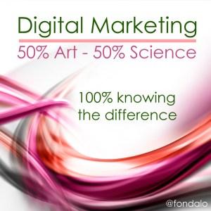 integrated digital marketing is half art and half science