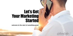 get started with fondalo - marketing
