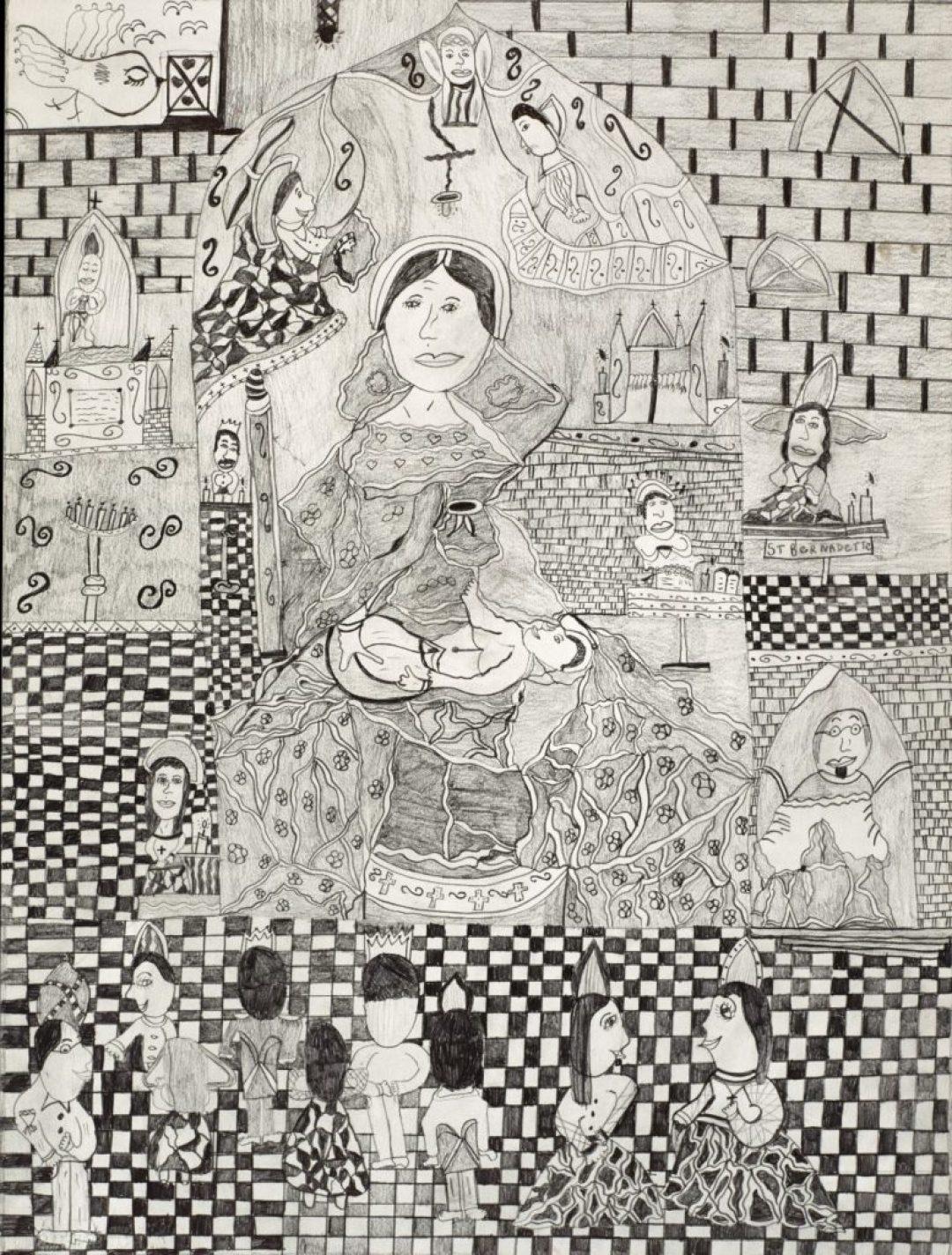 Christelle Hawkaluk, sans titre, 2010, crayon gris sur papier, 73 x 55 cm