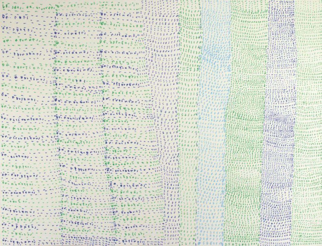Michel Dave, Sans titre, nd (2014-2015), marqueurs acrylique sur papier, 55 x 73 cm